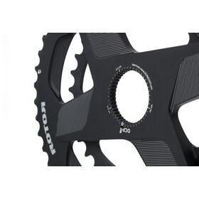 Rotor Aldhu Direct-Mount Doppel-Kettenblatt oval schwarz/matt
